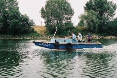 Le CHANBIGEON en 2005 vedette de servitude et de remorquage construite en 1964 par les chantiers de La Perrière de Lorient pour les chantiers Dubigeon-Normandie. Il est équipé d'un moteur Baudouin DK3 de 75cv