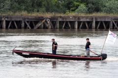Loire pour tous toue  Prise de vue depuis Cheviré amont Patrimoine fluvial et maritime fleuve Loire