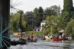 Les Rendez-vous de l'Erdre festival jazz musique et belle plaisance rivière La parade des bateaux voiliers sous le pont de la Tortière rivière patrimoine fluvial culture patrimoine
