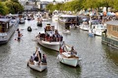 Les Rendez-vous de l'Erdre festival jazz musique et belle plaisance rivière la parade des bateaux et voiliers du patrimoine fluvial sur la rivière culture patrimoine  *** Local Caption *** bestrd